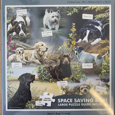 1000pcs - Man's Best Friend - Square Puzzle
