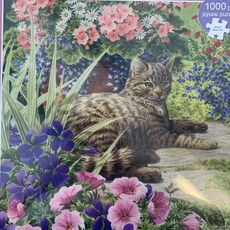 "1000pcs - Cat ""Lazy Summer Days"" - Square Puzzle"