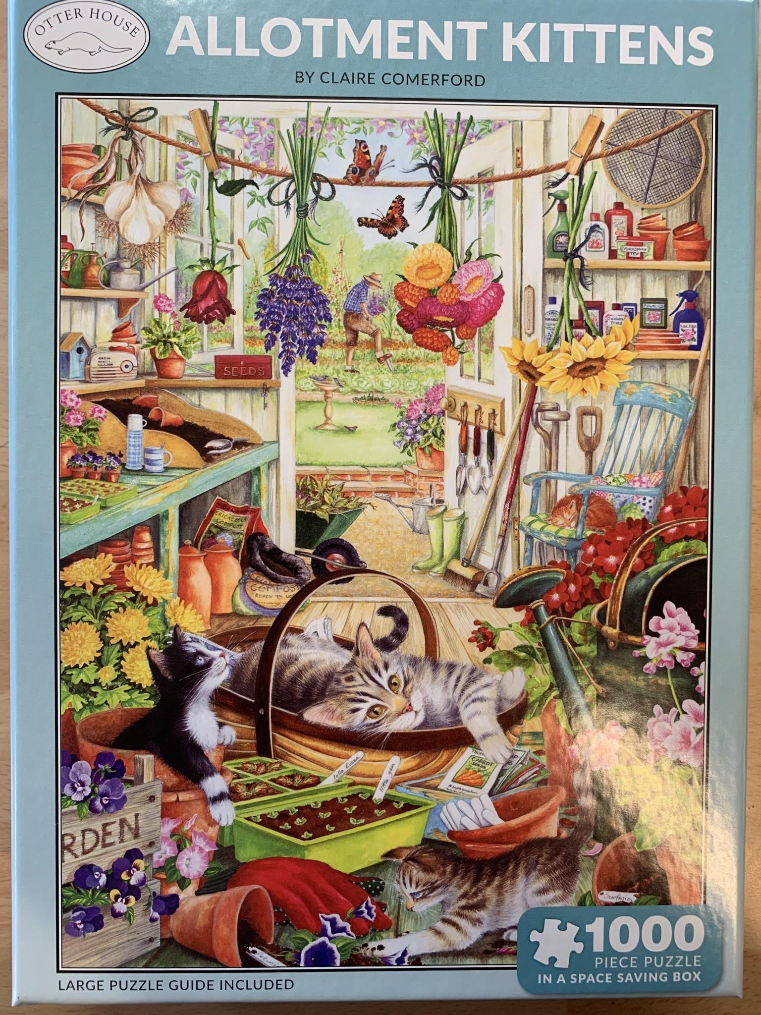 1000pcs - Allotment Kittens - Puzzle