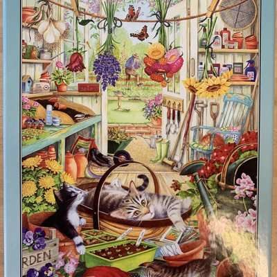 1000pcs - Allotment Kittens - Puzzle