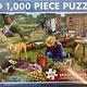 1000pcs - Garden Dogs  - Puzzle