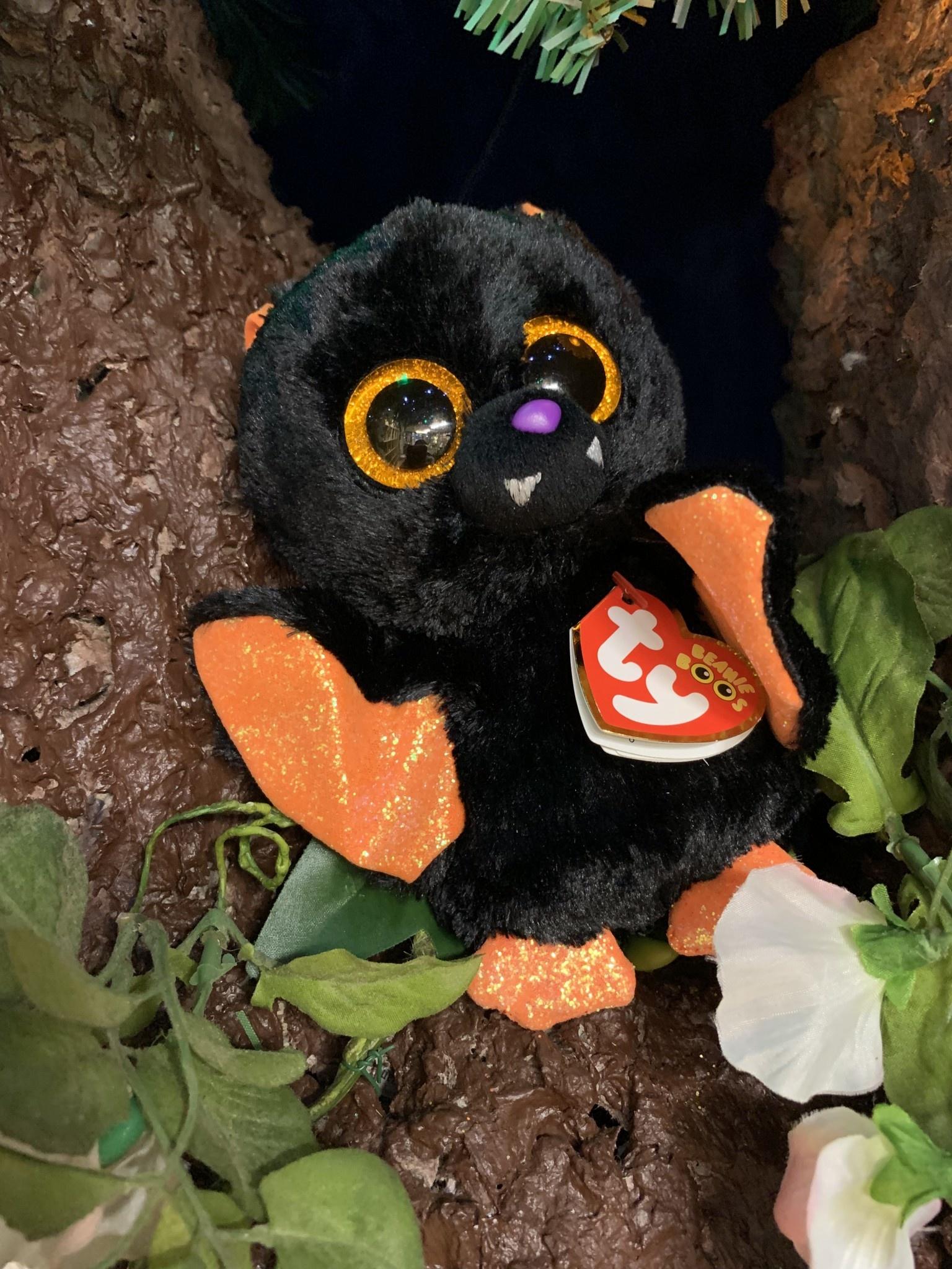 Ty Beanie Boo - Echo the Black & Orange Bat