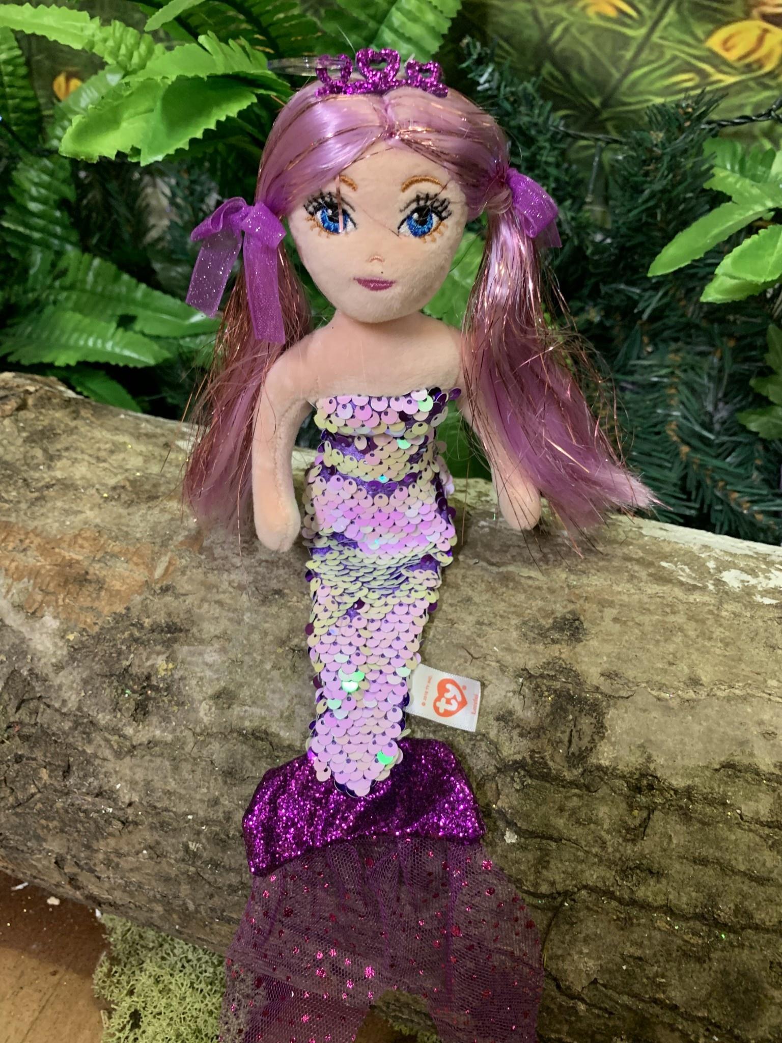 Ty Flippable Sequin Lorelei the Purple Mermaid