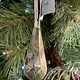 Gisela Graham Glass Droplet Shape Hanging Decoration