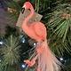Gisela Graham Pink Feather Flamingo Hanging Decoration