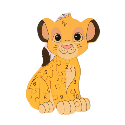 Orange Tree Toys Number Puzzle - Simba (Lion King)