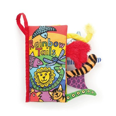 Jellycat - Soft Book Jellycat - Rainbow Tails - Book