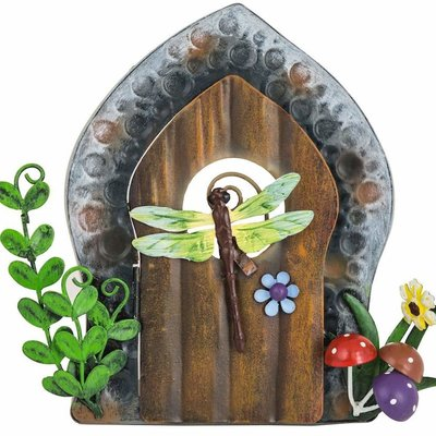 Shudehill Giftware Secret Garden Fairy Door Dragonfly - Metal