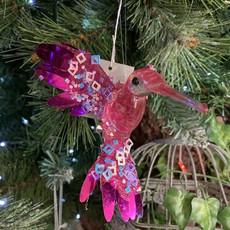 Gisela Graham Fuchsia Foil Acrylic Hummingbird Hanging Decoration