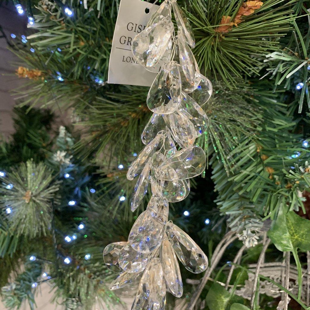 Gisela Graham Clear Crystal Cluster Drop Hanging Decoration