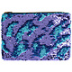 Sequin Purse - Turquoise & Purple