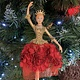 Red & Gold Elegant Ballerina Hanging Decoration