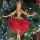Gisela Graham Red & Gold Elegant Ballerina Arms Out Hanging Decoration