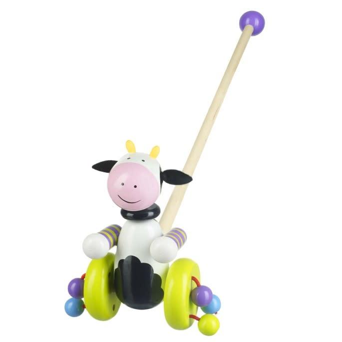 Orange Tree Toys Push Along - Cow