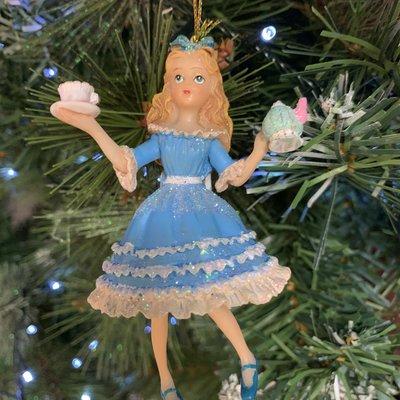Gisela Graham Alice In Wonderland Resin Hanging Decoration