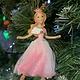 Gisela Graham Cinderella In Pink Hanging Decoration