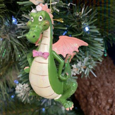 Gisela Graham Resin Dragon Hanging Decoration