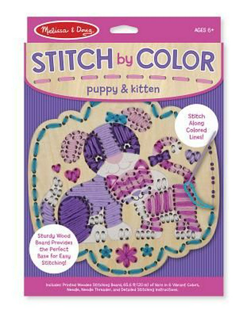Melissa & Doug Stitch by Colour - Puppy & Kitten