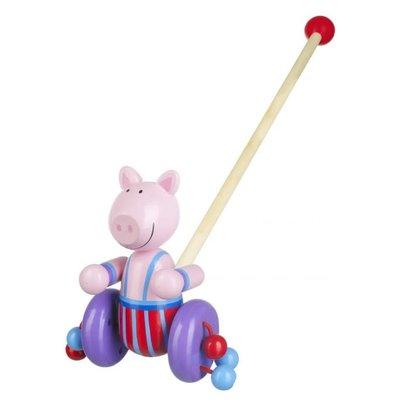 Orange Tree Toys Push Along Pig