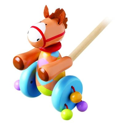 Orange Tree Toys Push Along Pony