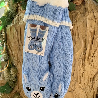 Snoozies Snoozies Blue Fluffy Llama Slipper Socks