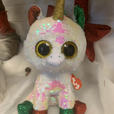 Ty Flippable Sequin Stardust the Unicorn - Beanie Boo Buddy