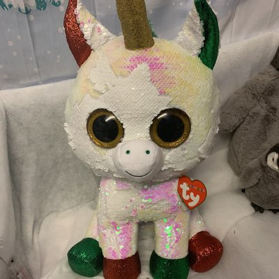 Ty Flippable Sequin Stardust the Unicorn - Beanie Boo Large