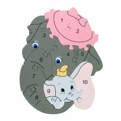 Disney Number Puzzle - Disney Dumbo
