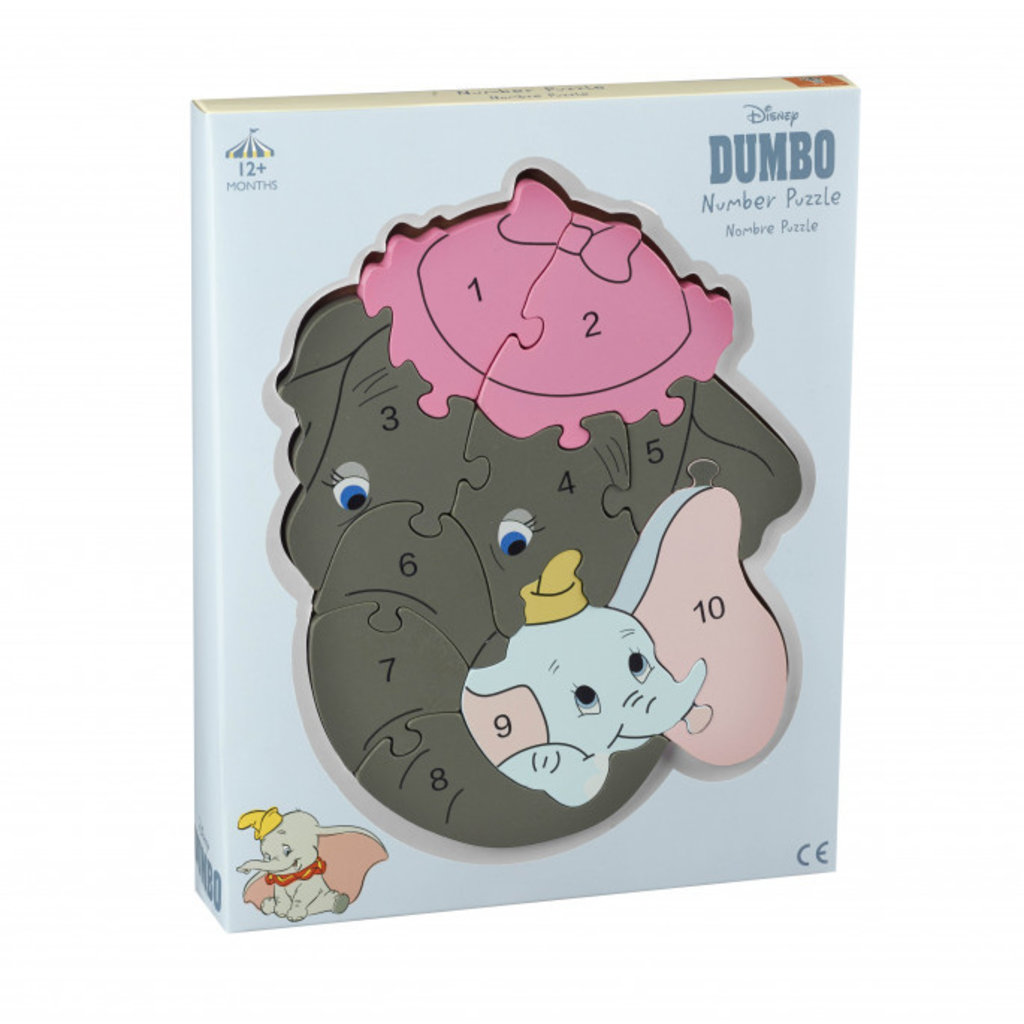 Disney Number Puzzle - Disney Dumbo