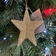 Pale Gold Glitter Acrylic 3D 5-point Star Hanging Decoration