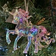 Multi Colour & Clear Acrylic Standing Unicorn Hanging Decoration