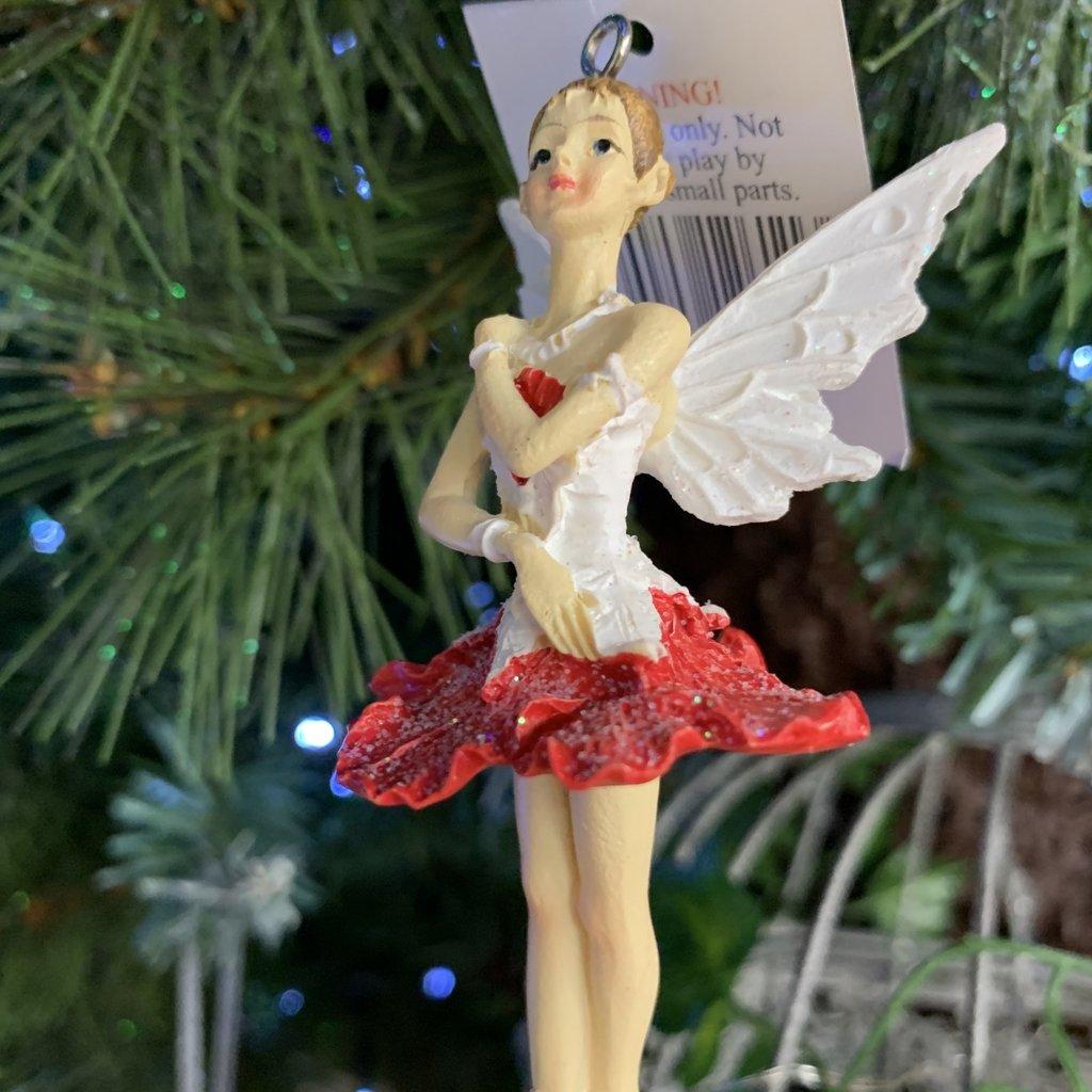 Gisela Graham Red & White Pixie Hanging Decoration