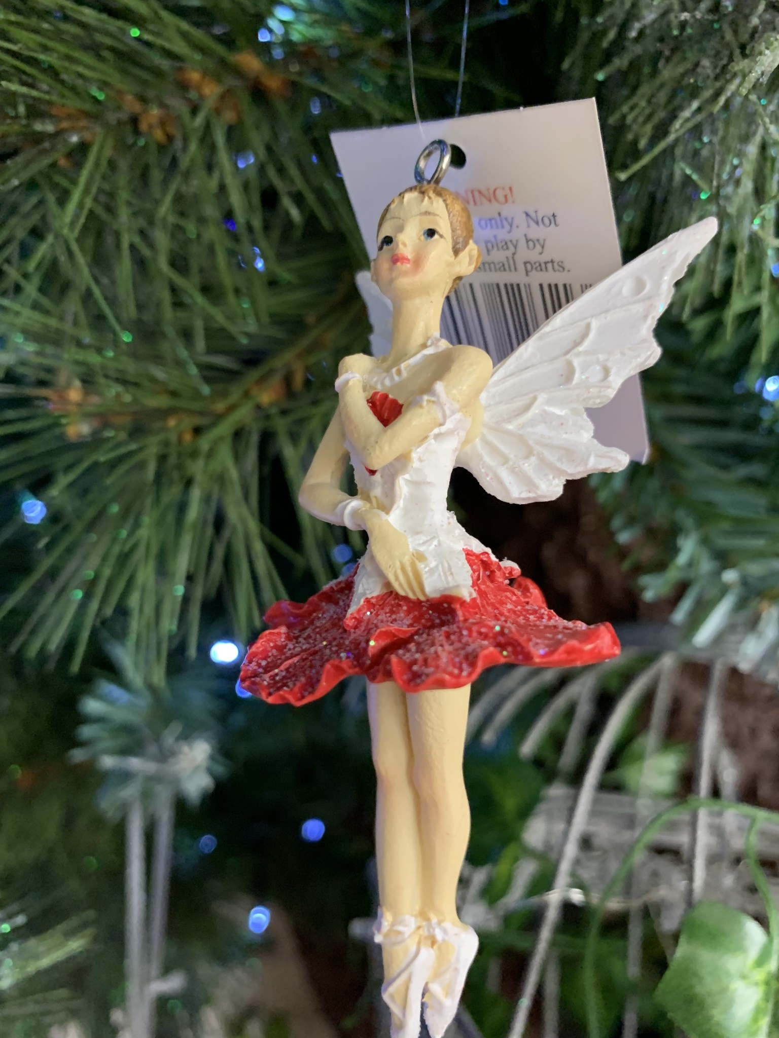 Red & White Pixie Hanging Decoration