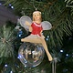 Red & White Pixie on Soap Bubble Arm Out Hanging Decoration