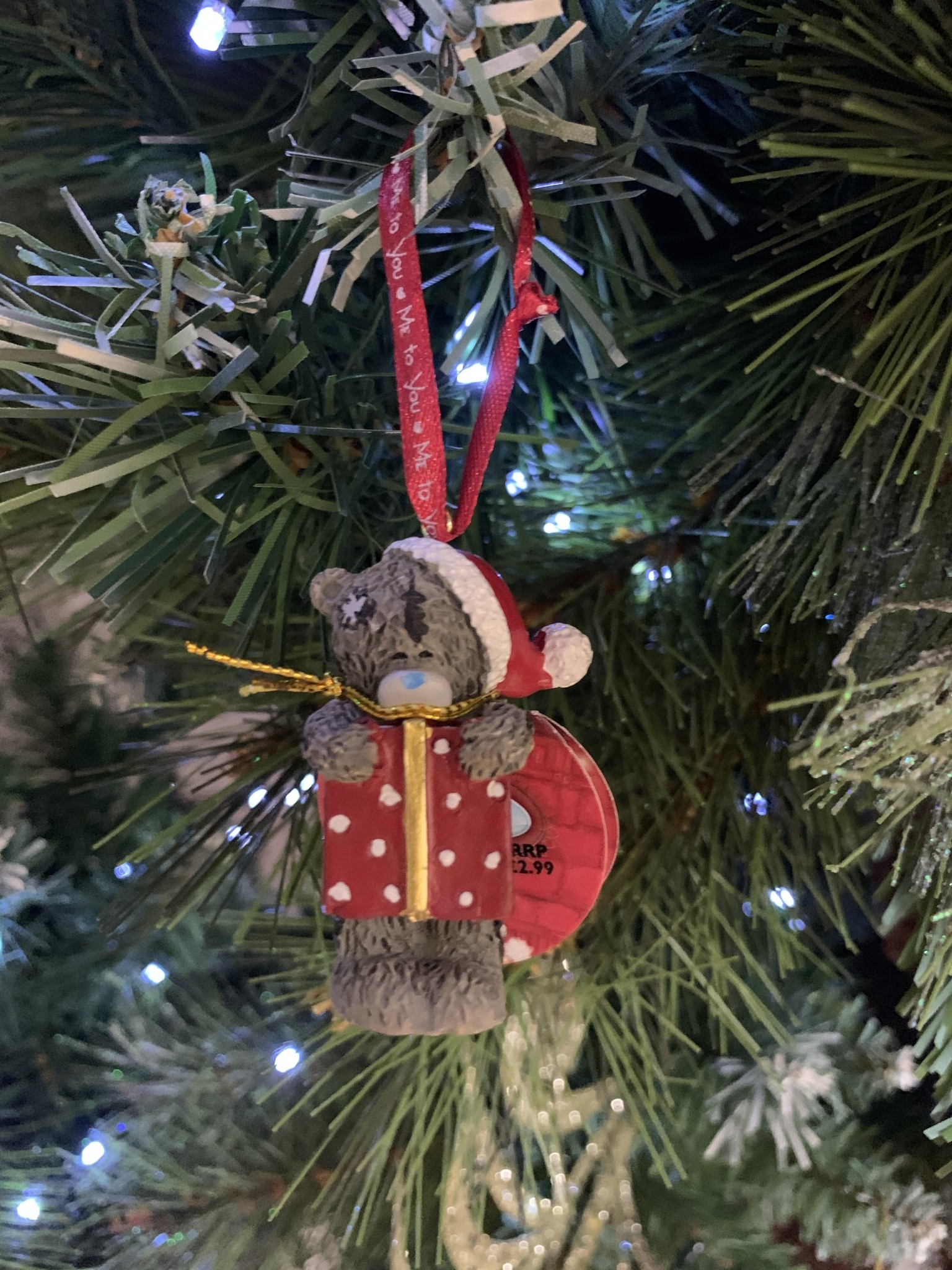 Tatty Ted Me to You - Tatty Ted in Prezzie Hanging Decoration