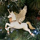 White & Gold Resin Flying Unicorn Hanging Decoration