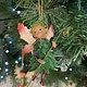 Woodland Resin Pixie with Pink Wings Hanging Decoration
