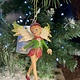 Woodland Resin Pixie with Cream Wings Hanging Decoration