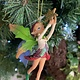 Woodland Resin Pixie with Green Wings Hanging Decoration