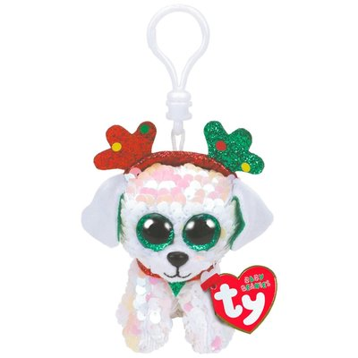Ty Flippable Sequin Sugar the Dog - Key Clip