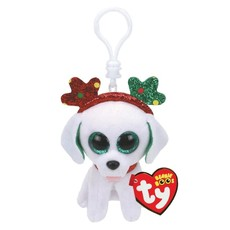 Ty Beanie Boo - Sugar the Dog xmas 2019 - Key Clip