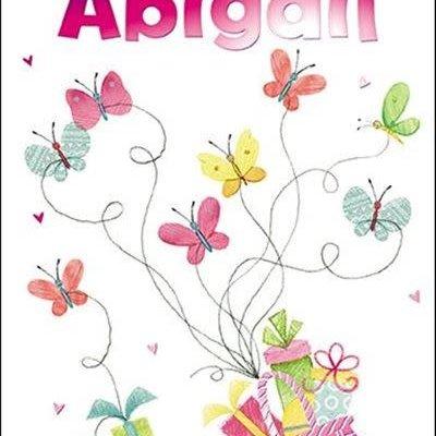 Treats & Smiles Personalised Birthday Card - Abigail