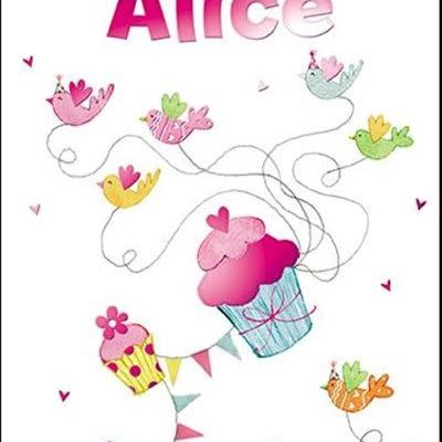 Treats & Smiles Personalised Birthday Card - Alice