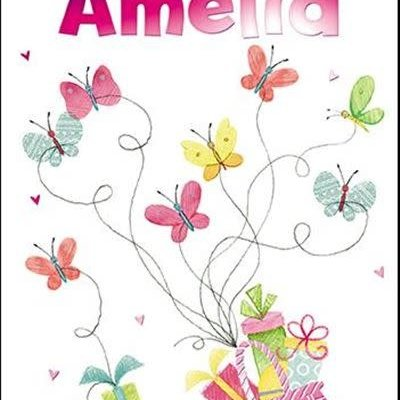 Treats & Smiles Personalised Birthday Card - Amelia