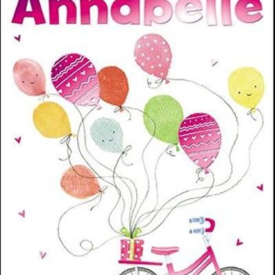 Treats & Smiles Personalised Birthday Card - Annabelle