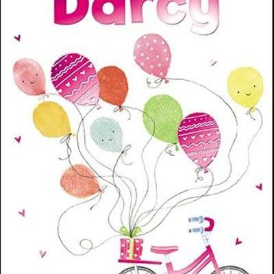 Treats & Smiles Personalised Birthday Card - Darcy