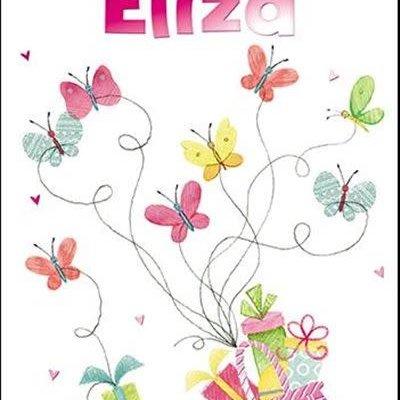 Treats & Smiles Personalised Birthday Card - Eliza