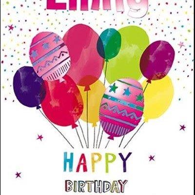 Treats & Smiles Personalised Birthday Card - Emily
