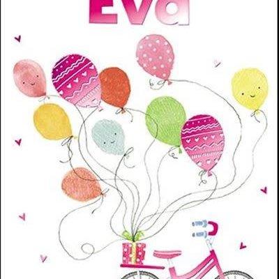 Treats & Smiles Personalised Birthday Card - Eva