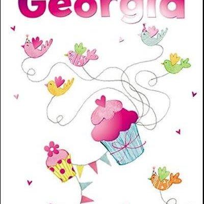 Treats & Smiles Personalised Birthday Card - Georgia